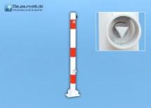 Absperrpfosten 76 mm umlegbar