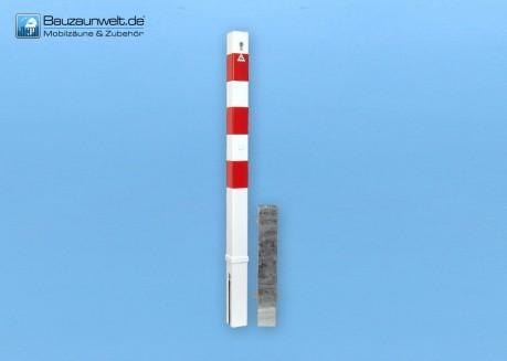 Absperrpfosten 70 x 70 mm mit Dreikantverschluss