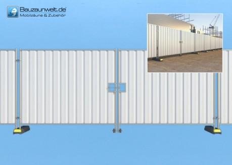 Bauzaun LKW-Tor geschlossen
